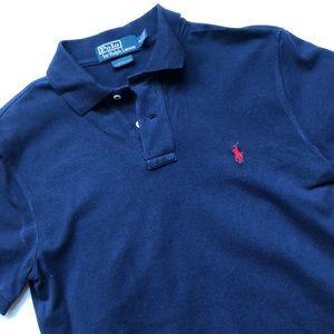 Polo Navy Short Sleeve Quarter Button